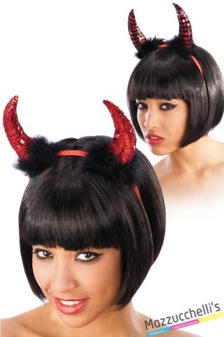 cerchietto diavolo halloween carnevale o altre feste a tema - Mazzucchellis