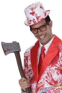 cilindro con sangue finto zombie killer halloween horror carnevale o altre feste a tema - Mazzucchellis
