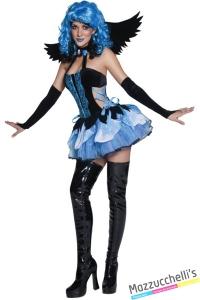 costume angela strega gotica halloween , carnevale o altre feste a tema - Mazzucchellis