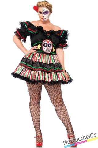 costume curvy il giorno della morte day of the dead carnevale halloween o altre feste a tema - Mazzucchellis