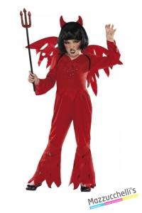 costume diavolo devil bambina carnevale halloween o altre feste a tema - Mazzucchellis