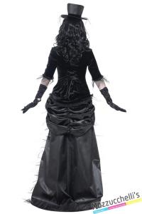 costume gotica dama fantasma vedova nera halloween , carnevale o altre feste a tema - Mazzucchellis