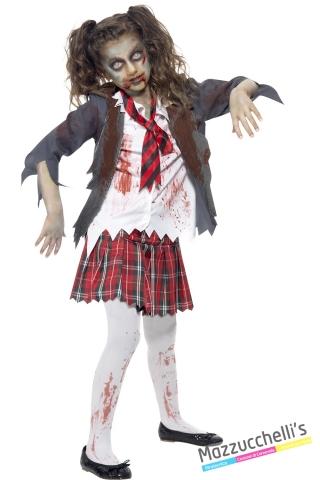 costume hight school zombie bambina carnevale halloween o altre feste a tema - Mazzucchellis