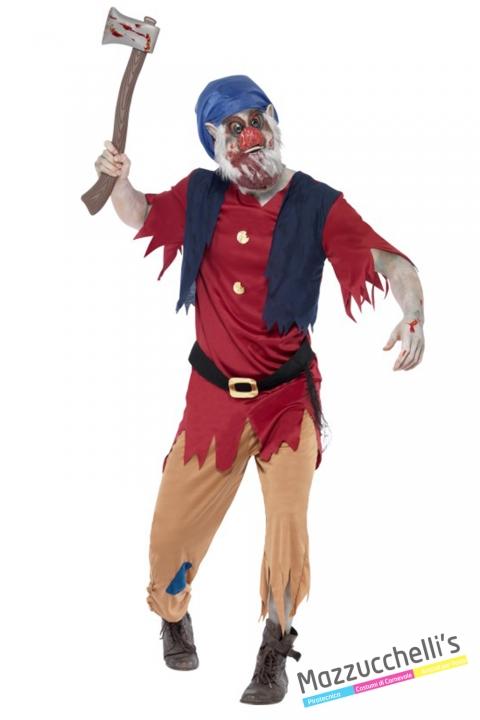costume nano zombie film biancaneve e i sette nani horror carnevale halloween o altre feste a tema - Mazzucchellis