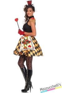 costume regina di cuori di alice nel paese delle meraviglie wonderland carnevale halloween o altre feste a tema - Mazzucchellis