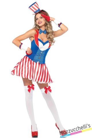 costume sexy bandiera americana popoli del mondo carnevale halloween o altre feste a tema - Mazzucchellis