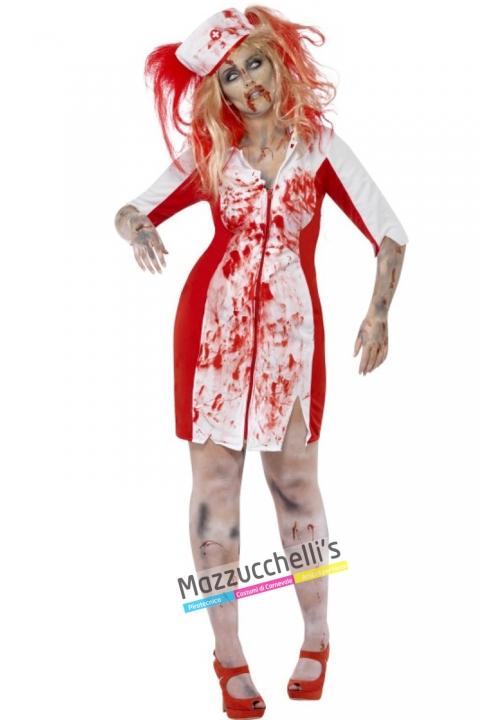 costume zombie infermiera costume halloween , carnevale o altre feste a tema - Mazzucchellis