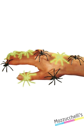 ragni fosforescenti allestimento halloween carnevale horror - Mazzucchellis