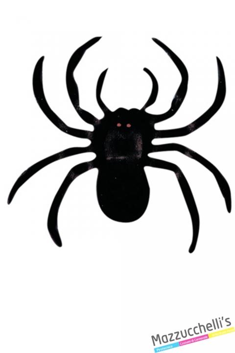 ragni neri Floccati di 10cm halloween horror - Mazzucchellis