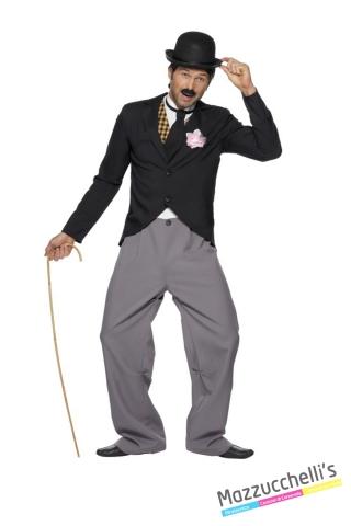 COSTUME UOMO Charlie Chaplin Anni 20 ATTORE COMICO CARNEVALE HALLOWEEN O ALTRE FESTE A TEMA - Mazzucchellis