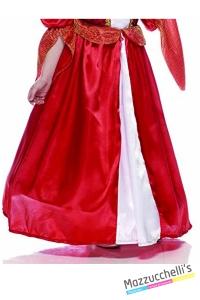 COSTUME bambina dama dei moschettieri rossa CARNEVALE HALLOWEEN O ALTRE FESTE A TEMA - Mazzucchellis