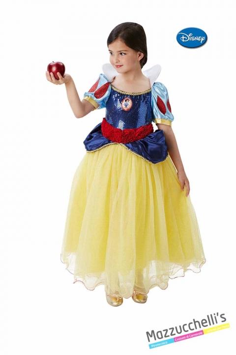 COSTUME bambina principessa biancaneve e i sette nani originale disney CARNEVALE HALLOWEEN O ALTRE FESTE A TEMA - Mazzucchellis