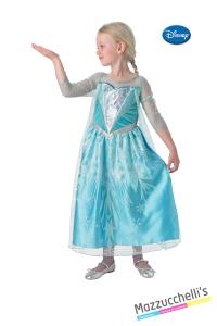 COSTUME bambina principessa film ELSA DI FROZEN ORIGINALE DISNEY CARNEVALE HALLOWEEN O ALTRE FESTE A TEMA - Mazzucchellis