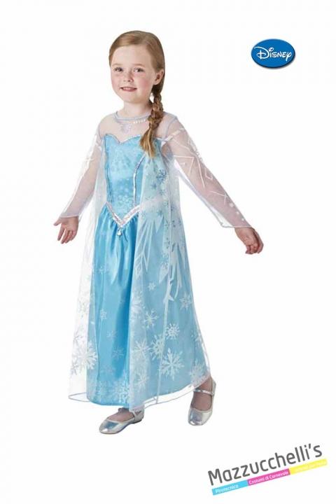 COSTUME bambina principessa film frozen la regina del ghiaccio elsa ufficiale disney CARNEVALE HALLOWEEN O ALTRE FESTE A TEMA - Mazzucchellis