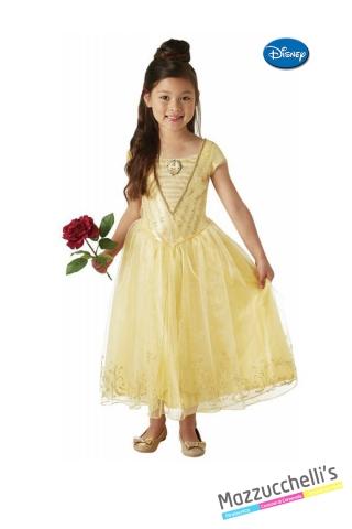 COSTUME bambina principessa la bella e la bestia film cartone fiaba CARNEVALE HALLOWEEN O ALTRE FESTE A TEMA - Mazzucchellis