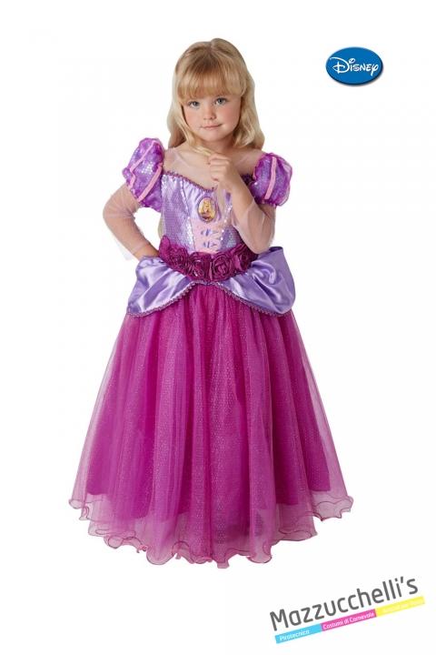 COSTUME bambina principessa rapunzel originale disney CARNEVALE HALLOWEEN O ALTRE FESTE A TEMA - Mazzucchellis