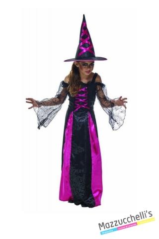 COSTUME bambina vampira rosa CARNEVALE HALLOWEEN O ALTRE FESTE A TEMA - Mazzucchellis