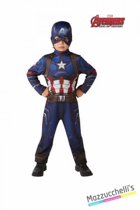 COSTUME bambino classico capitan america supereroe forte ufficiale avengers marvel CARNEVALE HALLOWEEN O ALTRE FESTE A TEMA - Mazzucchellis