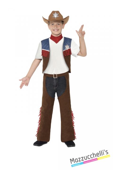 COSTUME bambino cowboy texas CARNEVALE HALLOWEEN O ALTRE FESTE A TEMA - Mazzucchellis