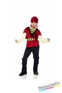 COSTUME bambino pirata corsato pirata dei caraibi film CARNEVALE HALLOWEEN O ALTRE FESTE A TEMA - Mazzucchellis