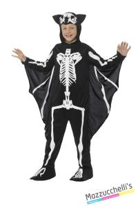 COSTUME bambino scheletro pipistrello CARNEVALE HALLOWEEN O ALTRE FESTE A TEMA - Mazzucchellis