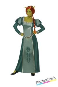 COSTUME donna Principessa Orchessa Fiona del cartone animato Shrek HALLOWEEN O ALTRE FESTE A TEMA - Mazzucchellis