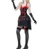 COSTUME donna burlesque zombie horror insanguinato CARNEVALE HALLOWEEN O ALTRE FESTE A TEMA - Mazzucchellis