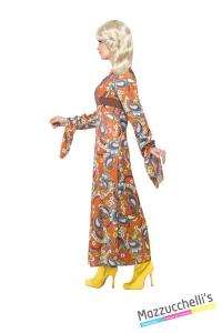 COSTUME donna hippie figlia dei fiori anni '60 '70 CARNEVALE HALLOWEEN O ALTRE FESTE A TEMA - Mazzucchellis