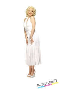 COSTUME donna sexy Marilyn Monroe FILM E PERSONAGGIO FAMOSO CARNEVALE HALLOWEEN O ALTRE FESTE A TEMA - Mazzucchellis