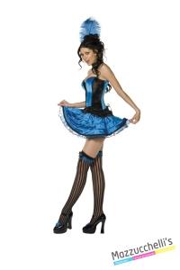 COSTUME donna sexy ballerina can can spettacoli CARNEVALE HALLOWEEN O ALTRE FESTE A TEMA - Mazzucchellis