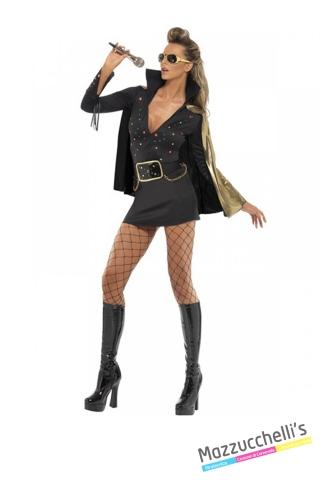 COSTUME donna sexy elvis Presley cantante famoso CARNEVALE HALLOWEEN O ALTRE FESTE A TEMA - Mazzucchellis