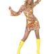 COSTUME donna sexy hippie figlia dei fiori anni '60 '70 CARNEVALE HALLOWEEN O ALTRE FESTE A TEMA - Mazzucchellis