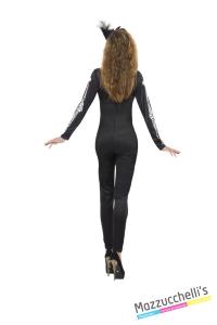 COSTUME donna sexy scheletro CARNEVALE HALLOWEEN O ALTRE FESTE A TEMA - Mazzucchellis