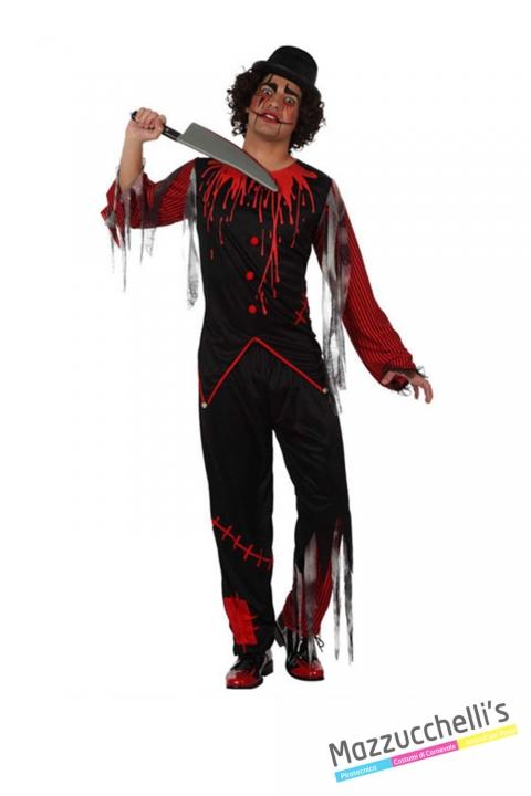 costume CLOWN PAGLIACCIO HORROR ZOMBIE carnevale halloween o altre feste a tema - Mazzucchellis