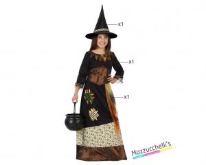 costume bambina strega carnevale halloween o altre feste a tema - Mazzucch