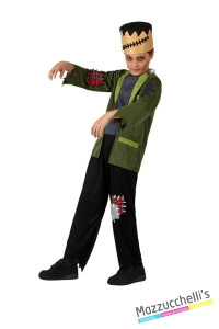 costume bambino Frankenstein carnevale halloween o altre feste a tema - Mazzucchellis