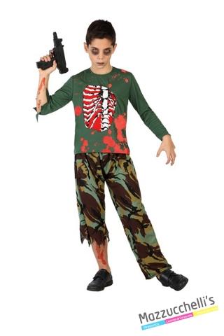 costume bambino militare zombie horror carnevale halloween o altre feste a tema - Mazzucchellis