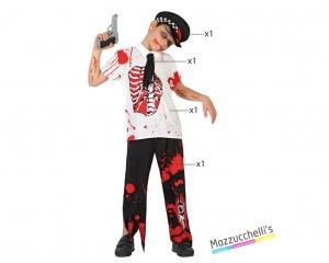 costume bambino poliziotto mestieri zombie horror fantasma carnevale halloween o altre feste a tema - Mazzucchellis