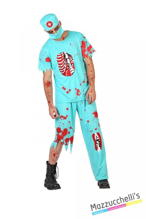 costume dottore chirurgo zombie horror carnevale halloween o altre feste a tema - Mazzucchellis
