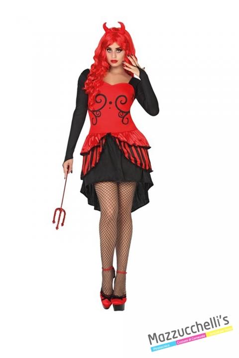 costume sexy donna demone diavoletta diavolo carnevale halloween o altre feste a tema - Mazzucchellis