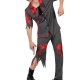 costume uomo poliziotto horror zombie carnevale halloween o altre feste a tema - Mazzucchellis