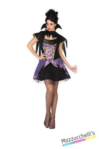 costume vampira viola horror carnevale halloween o altre feste a tema - Mazzucchellis