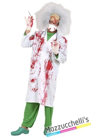 Camice Insanguinato Halloween da Dottore Pazzo Zombie Insanguinato - Mazzucchellis