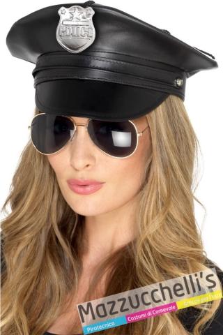 Cappello poliziotta deluxe donna