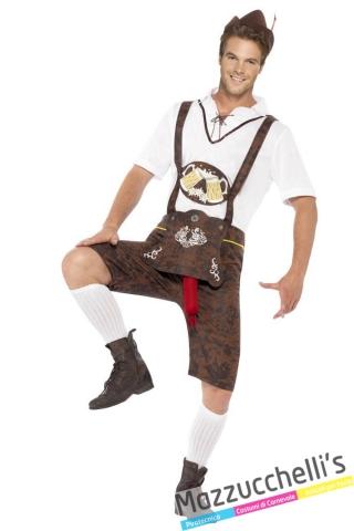 Costume Bavarese - Oktoberfest UOMO TIROLESE carnevale - Mazzucchellis
