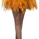 Tutù corto arancione halloween zucca strega sexy - Mazzucchellis