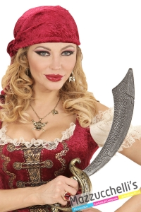 anello con gemma rossa pirata vampiro cardinale carnevale halloween e altre feste a tema - Mazzucchellis
