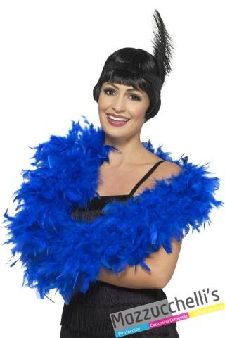 boa blu carnevale charleston Anni '20 - Mazzucchellis