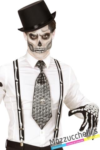 bretelle con ossa da scheletro halloween carnevale altre feste a tema - Mazzucchellis