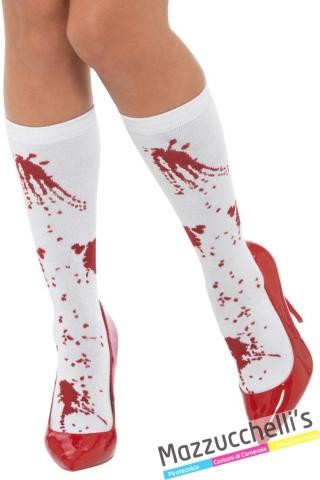 calze corte insanguinate Zombie horror halloween carnevale - Mazzucchellis
